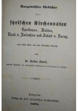 Ausgewahlte Schrichten,  1872 r.