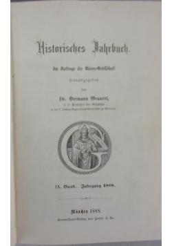 Historisches Hahrbuch  1888 r.