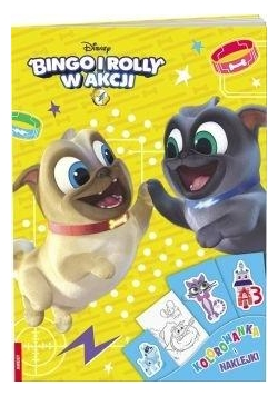 Bingo i Rolly w akcji Kolorowanka i naklejki