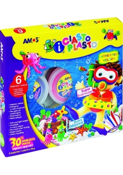 Ciasto-plasto Amos  6 kolorów + akcesoria