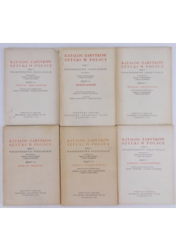 Katalog zabytków w Polsce, tom V, zestaw 6 książek