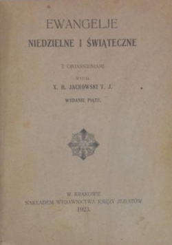 Ewangelje niedzielne i świąteczne, 1923 r.