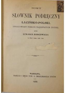 Słownik podręczny łacińsko - polski, 1936 r.