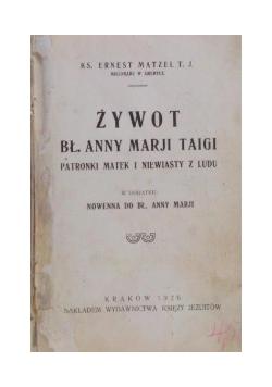 Żywot bł. Anny Marji Taigi, 1926 r.
