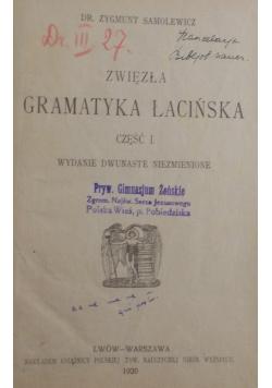 Zwięzła gramatyka łacińska , 1920 r.