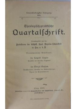 Theologisch praktische Quartal Schrift , 1918r.