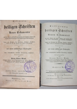 Heiligen Schriften, I TOM z  roku 1840 i II TOM z roku 1848