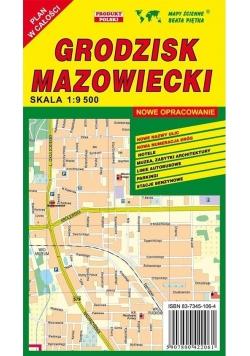 Grodzisk Mazowiecki 1:9 500 plan miasta PIĘTKA