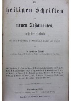 Die heiligen schriften, 1866 r.