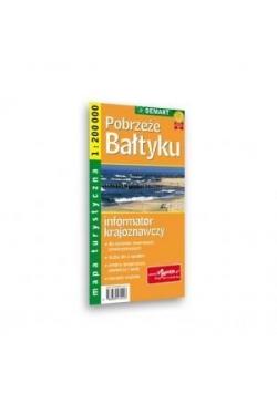 Mapa Turs. Pobrzeże Bałtyku DEMART