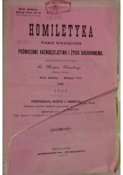 Homiletyka.Pismo miesięczne poświęcone kaznodziejstwu i życiu duchowemu, 1903r.