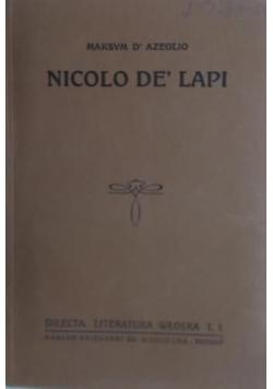 Nicolo de' Lapi, 1921 r.