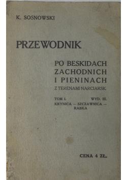 Przewodnik po beskidach zachodnich i Pieninach, 1930 r.