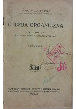 Chemja organiczna, 1922r.