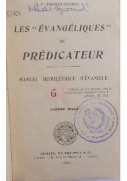 Predicateur, 1923r.