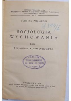Socjologia Wychowania, 1928r.