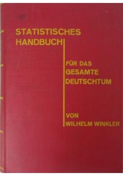 Statistisches bandbuch, 1927r.
