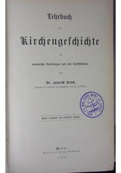 Lehrbuch der Kirchengeschichte, 1884 r.