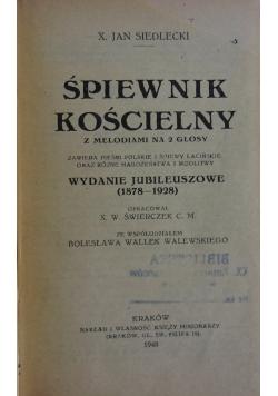 Śpiewnik kościelny, 1948r.