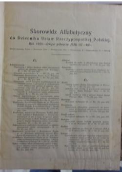 Skrowidz Alfabetyczne, 1928r.