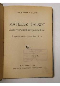 Mateusz Talbot, 1934 r.
