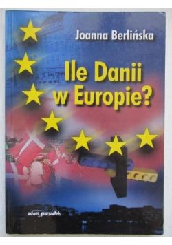 Ile Danii w Europie