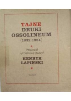 Tajne druki Ossolineum (1832-1834). Teczka