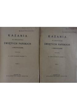 Kazania na uroczystości świętych pańskich i przygodne, tom 1-2,  1924 r