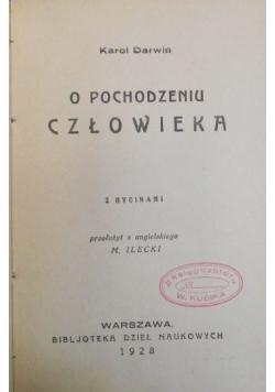 O pochodzeniu człowieka 1928 r.