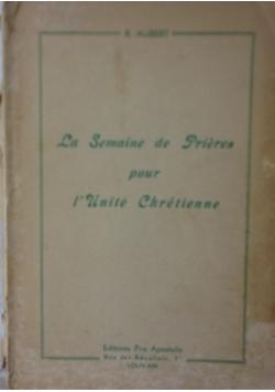 La Semaine de Pieres pour I Unite chretienne 1950 r