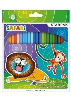 Kredki ołówkowe 24 kolory Safari