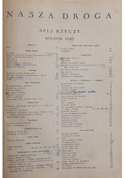 Nasza droga, Rocznik 1950 , rok XXIV, Zeszyt 1 , Styczeń 1950