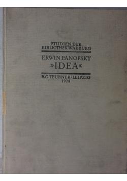 Studien der Bibliothek Warburg. Idea, 1924r.