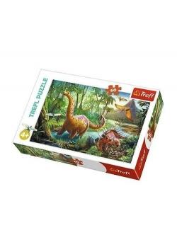 Puzzle 60 Wędrówka dinozaurów TREFL