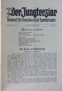 Der Jungtertiär, Werkbrief für franziskanische Jugendgruppen, 1936 1937 r.