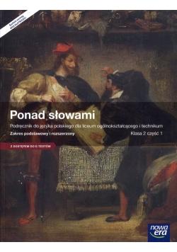 Ponad słowami 2 Język polski Podręcznik Część 1 Zakres podstawowy i rozszerzony