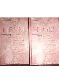 Hegel fenomenologia ducha zestaw 2 książek