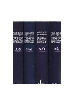 Wielki Słownik polsko-angielski, zestaw 4 książek