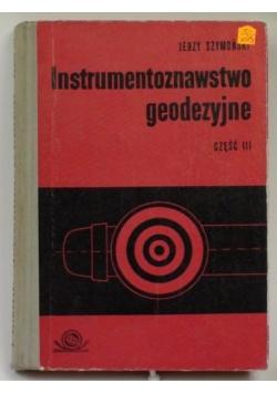 Instrumentoznawstwo geodezyjne, cz. III
