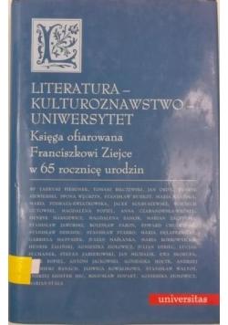 Literatura - kulturoznawstwo - uniwersytet