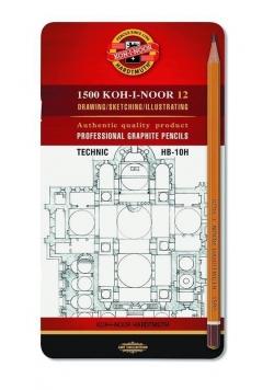 Ołówek grafitowy 1502/I HB-10H (12szt)