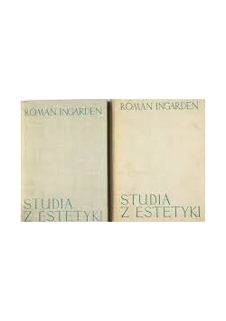 Studia z estetyki, zestaw 2 książek