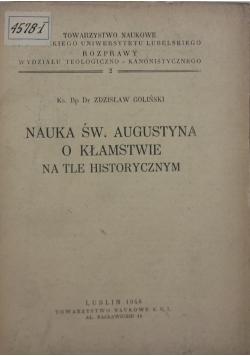 Nauka św. Augustyna o kłamstwie na tle historycznym, 1948 r.