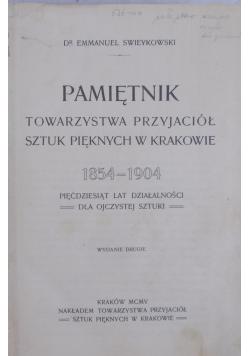 Pamiętnik Towarzystwa Przyjaciół sztuk pięknych w Krakowie, 1905r