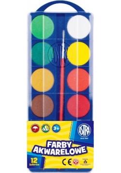 Farby Akwarelowe fi30mm 12 kolorów ASTRA