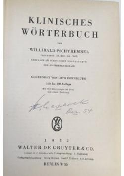 Klinisches Worterbuch, 1942 r.