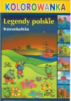 Kolorowanka - Legendy polskie. Toruńskie
