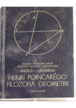 Lubomirski Andrzej - Henri Poincarego Filozofia Geometrii