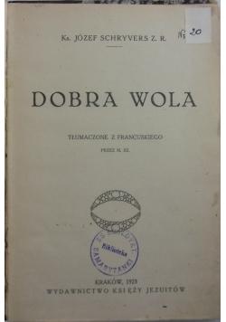 Dobra wola, 1923 r.
