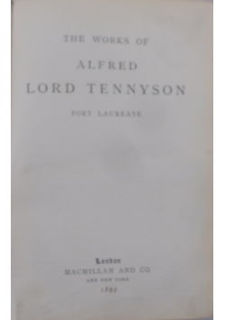 The works of Alfred Lord Tennyson, 1894 r.